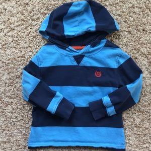 3t boys blue striped hoodie